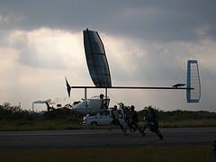 飛行中のWASAの機体