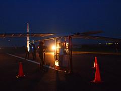 6月5日早朝、飛行準備を整えたチームエアロセプシーの機体